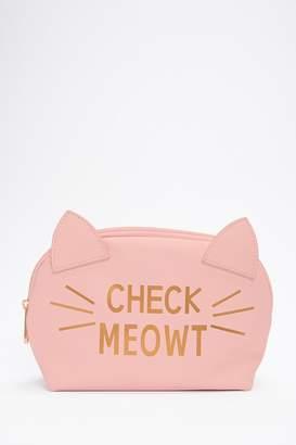 Forever 21 Check Meowt Makeup Bag