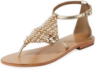 Andre Assous Karats Metallic Embellished Sandals