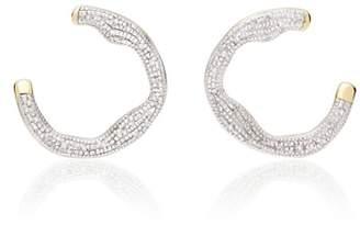Monica Vinader Riva Diamond Circle Wrap Earrings