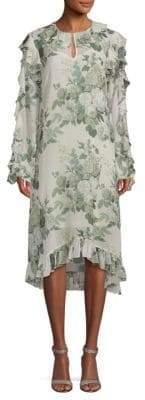 Robert Rodriguez Printed Silk Shift Dress