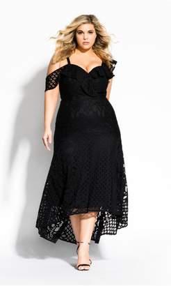 City Chic Citychic Femme Fatale Maxi Dress - black
