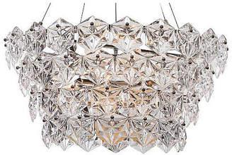 Viz Glass 12-Light Overture Chandelier - Nickel