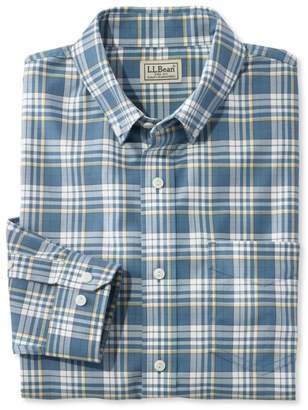 L.L. Bean L.L.Bean Men's Easy-Care Chambray Shirt, Traditional Fit Plaid