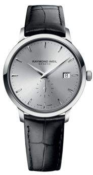 Raymond Weil Mens Toccato Stainless Steel and Leather Watch