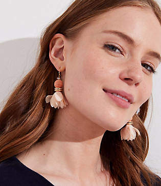 LOFT Petal Ball Drop Earrings