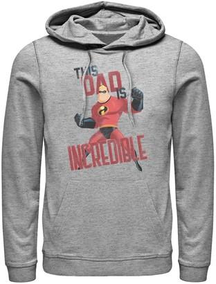 Licensed Character Men's Disney Pixar Incredibles This Dad Is Incredible Hoodie