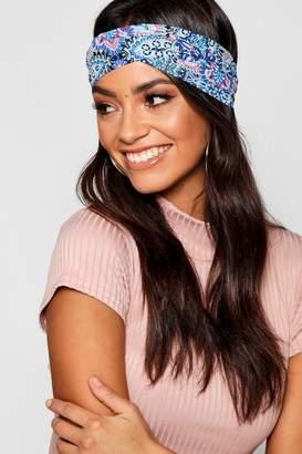 boohoo Floral Paisley Headscarf
