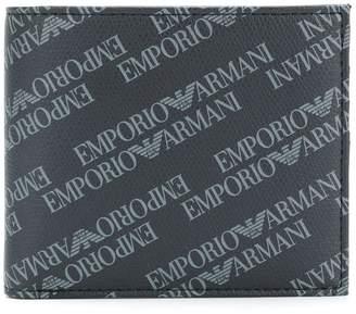 Emporio Armani logo printed bi-fold wallet