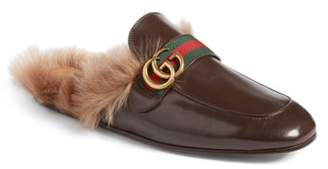 Gucci New Princetown Genuine Shearling Mule