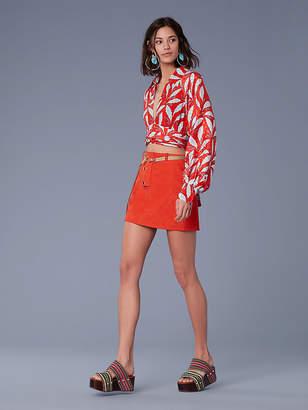Diane von Furstenberg Button Front Mini Skirt