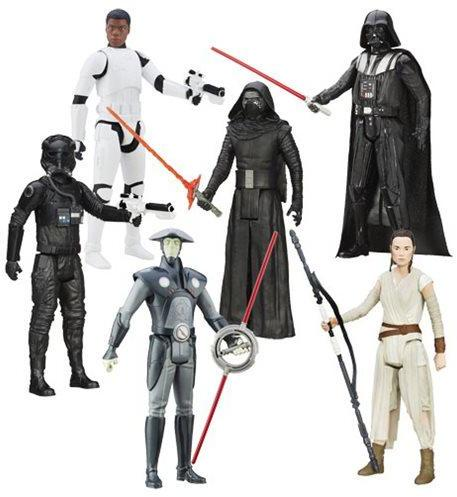 "Hasbro Star Wars The Force Awakens Hero Series Wave 4 Set with (8) 12"" Action Figures"