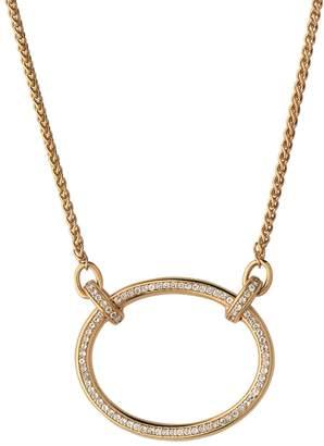 Links of London Yellow Gold Vermeil and White Topaz Ovals Necklace