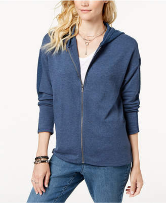 Style&Co. Style & Co Zip-Front Thermal-Detailed Hoodie, Created for Macy's
