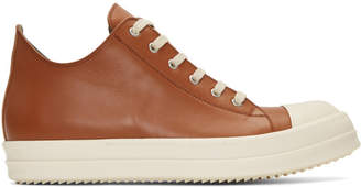 Rick Owens Brown Low Sneakers