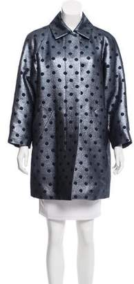 Marc Jacobs Brocade Polka Dot Coat