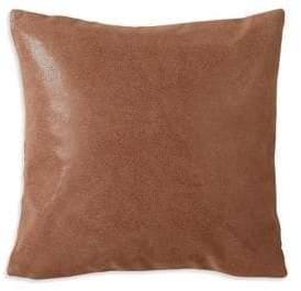 Donna Karan Awakening Leather & Faux Suede Down Throw Pillow