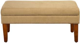 HomePop Textured Storage Bench