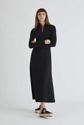 Rosetta Getty Long Sleeve Zip Up Turtleneck Dress