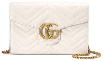 Gucci GG Marmont Mini Matelassé Chain Bag, White $1,300 thestylecure.com
