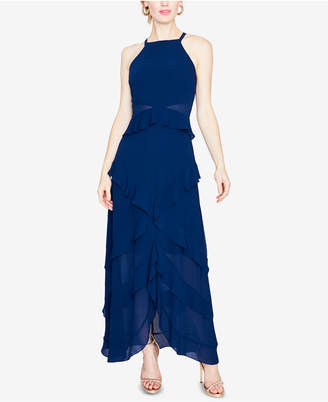 Rachel Roy Ruffled V-Back Gown