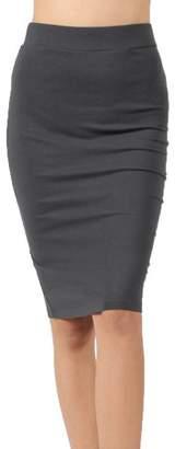 JNTOP Premium Cotton Basic Knee Length Skirts