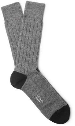 Paul Smith Ribbed-Knit Socks