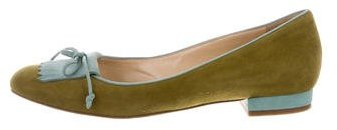 Charlotte Olympia Charlotte Olympia Kiltie Suede Flats