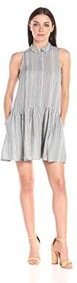 French Connection Women's Serge Stripe Sleeveless Shirt Dress,0