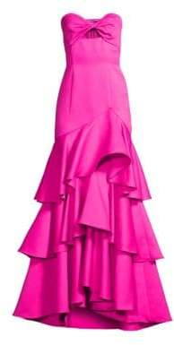 Jay Godfrey Harvey Strapless Ruffle Gown