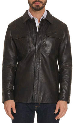 Robert Graham Men's Devane Lamb Leather Jacket