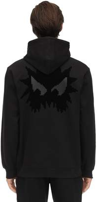 McQ Monster Print Cotton Sweatshirt Hoodie