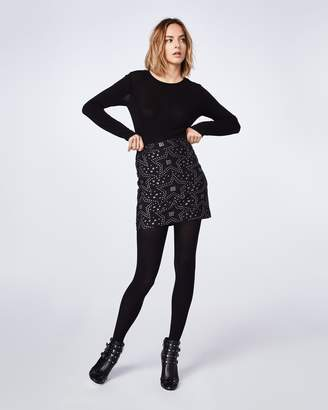 Nicole Miller Star Jacquard Mini Skirt