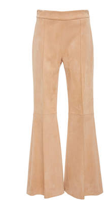 Rosetta Getty Cropped Flared Pintuck Pant