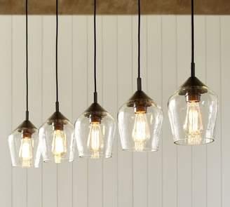 Pottery Barn Donovan Glass 5-Light Pendant