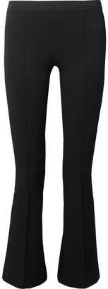 Helmut Lang Cropped Stretch-ponte Leggings - Black