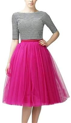 CoutureBridal Tutu Tulle Midi Skirts A Line Tea Length Prom Petticoat Ballet Skirt