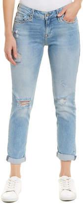 Mavi Jeans Ada Light Ripped Eyelet Boyfriend Cut