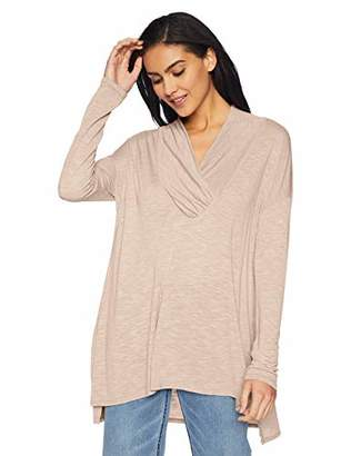 Michael Stars Women's Brooklyn Jersey Long Sleeve Cowl Neck Tunic