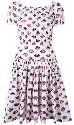 Prada Women's White/pink Cotton Dress.