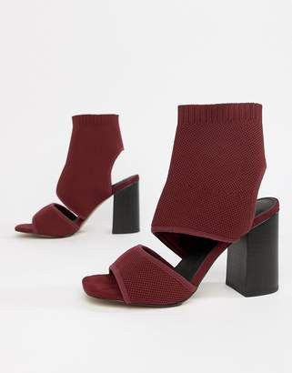 Asos DESIGN Teric knitted Block Heeled Sandals