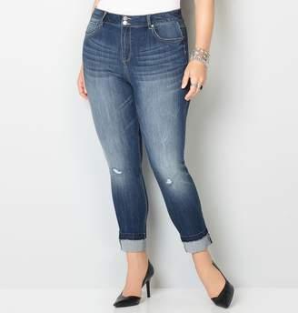 Avenue Virtual Stretch Destructed Ankle Jean