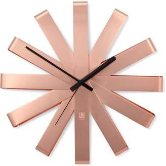 """Umbra Ribbon 12"""" Copper Wall Clock"""