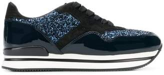 Hogan glitter runner sneakers