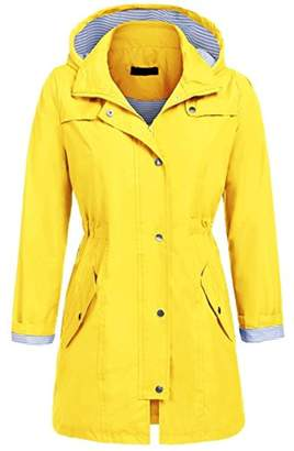 MOSZA Women's Hooded Rain Jacket Waterproof Active Outdoor?Rain Wear Anorak