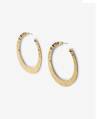 Express flat hammered hoop earrings $22.90 thestylecure.com