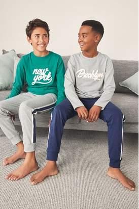 Next Boys Multi Collegiate Pyjamas Two Pack (3-16yrs)