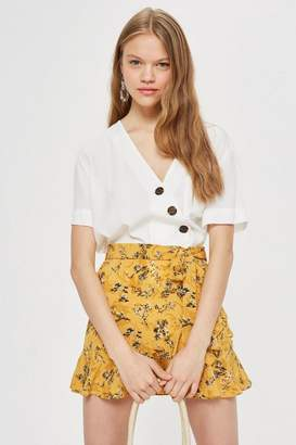 Topshop Petite Ruffle Tie Skirt
