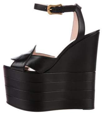 Gucci Platform Wedge Sandals