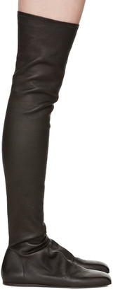 Rick Owens Black Ballerina Over-the-Knee Boots $2,060 thestylecure.com
