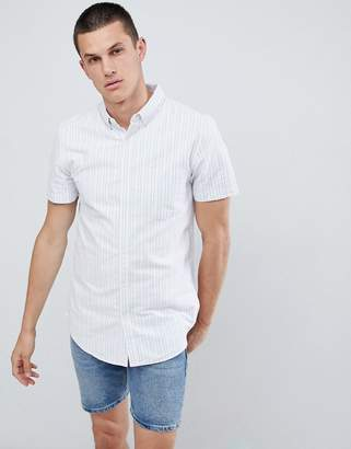 New Look Regular Fit Shirt With Two Tone Stripe In Pink